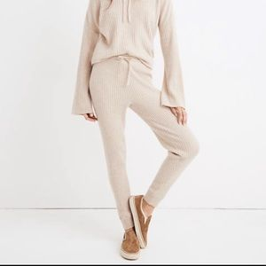 Madewell Cashmere ribbed jogger Pants Sz M NWT